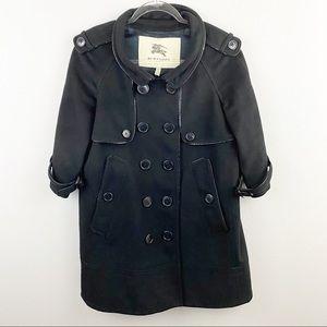 Burberry • Black Alpaca Wool Coat
